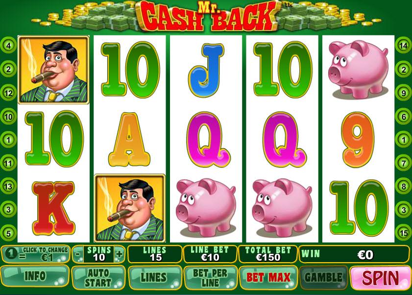 Mr. Cashback MCPcom Playtech
