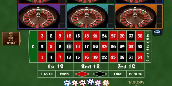 Multi Wheel Roulette CPcom Playtech
