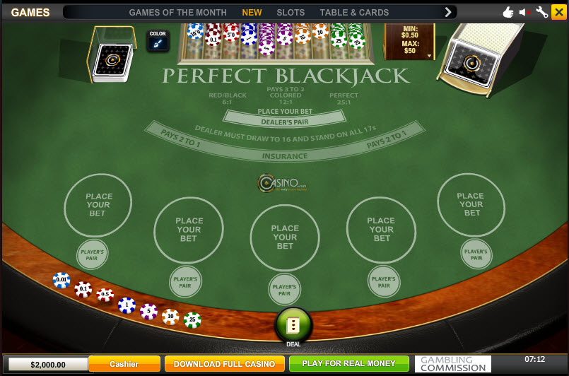 Perfect Blackjack MCPcom Playtech