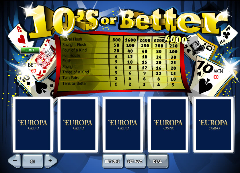 Tens Or Better MCPcom Playtech