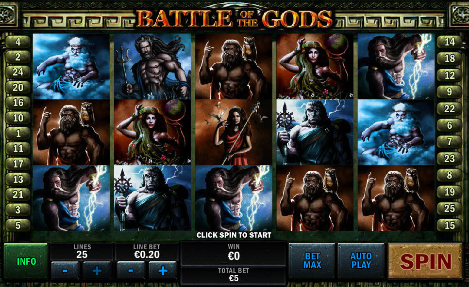Battle of the Gods MCPcom Playtech