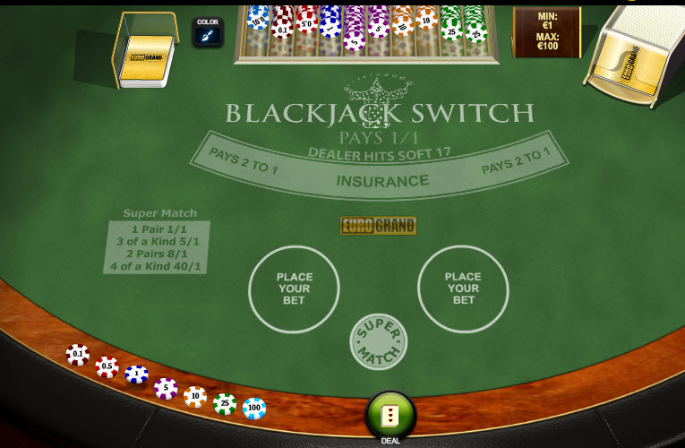 Blackjack Switch MCPcom Playtech