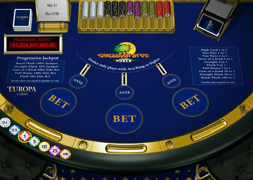 Caribbean Stud Poker MCPcom Playtech