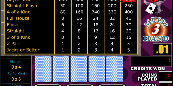 Bonus Poker Deluxe 3 Hands MCPcom RTG2