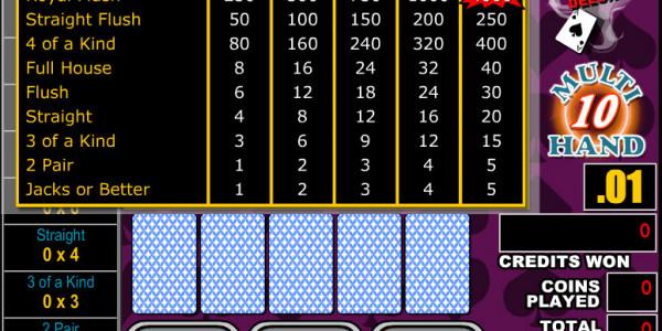 Bonus Poker Deluxe 10 Hands MCPcom RTG2