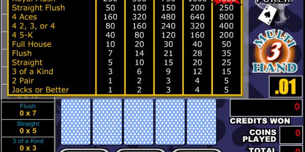 Double Bonus Poker 3 Hands MCPcom RTG2