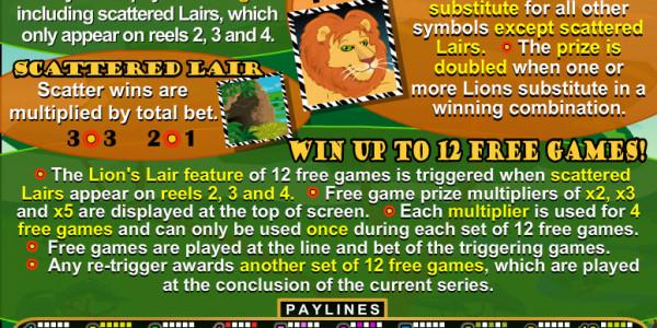 Lion's Lair MCPcom RTG pay