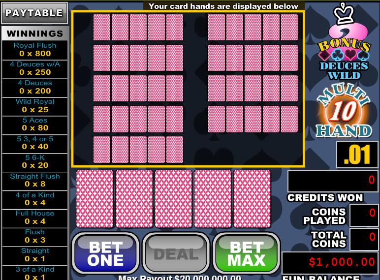 Bonus Deuces Wild 10 Hands MCPcom RTG