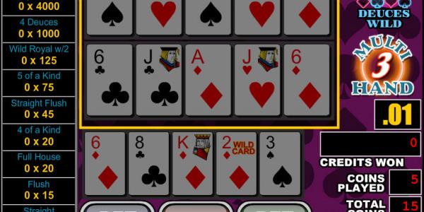 Deuces Wild 3 Hands MCPcom RTG3