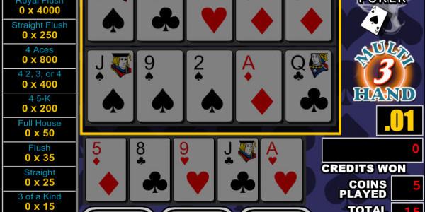 Double Bonus Poker 3 Hands MCPcom RTG3