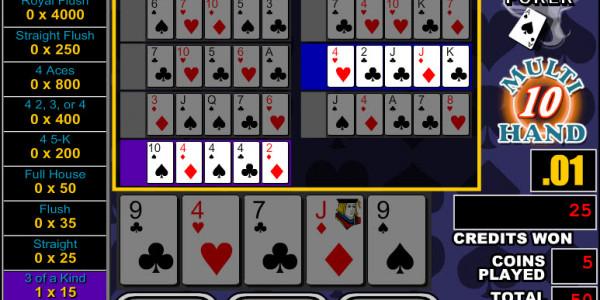 Double Bonus Poker 10 Hands MCPcom RTG3