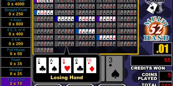 Double Bonus Poker 52 Hands MCPcom RTG3