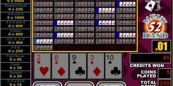 Double Double Bonus Poker 52 Hands MCPcom RTG3