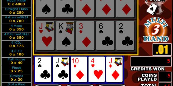 Double Jackpot Poker 3 Hands MCPcom RTG3