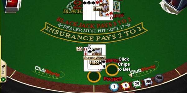 Blackjack + Perfect Pairs MCPcom RTG3