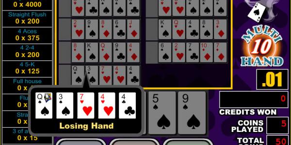 Bonus Poker 10 Hands MCPcom RTG3