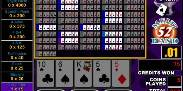 Bonus Poker 52 Hands MCPcom RTG3
