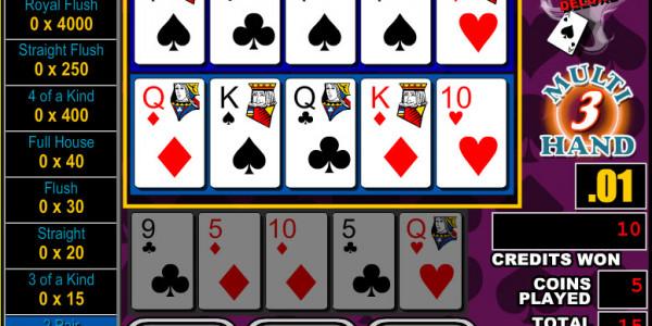 Bonus Poker Deluxe 3 Hands MCPcom RTG3