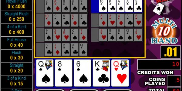 Bonus Poker Deluxe 10 Hands MCPcom RTG3