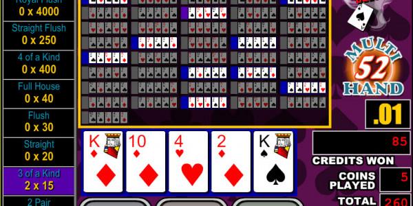 Bonus Poker Deluxe 52 Hands MCPcom RTG3