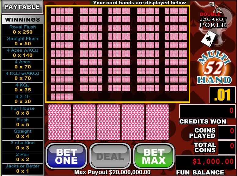 Double Jackpot Poker 52 Hands MCPcom RTG