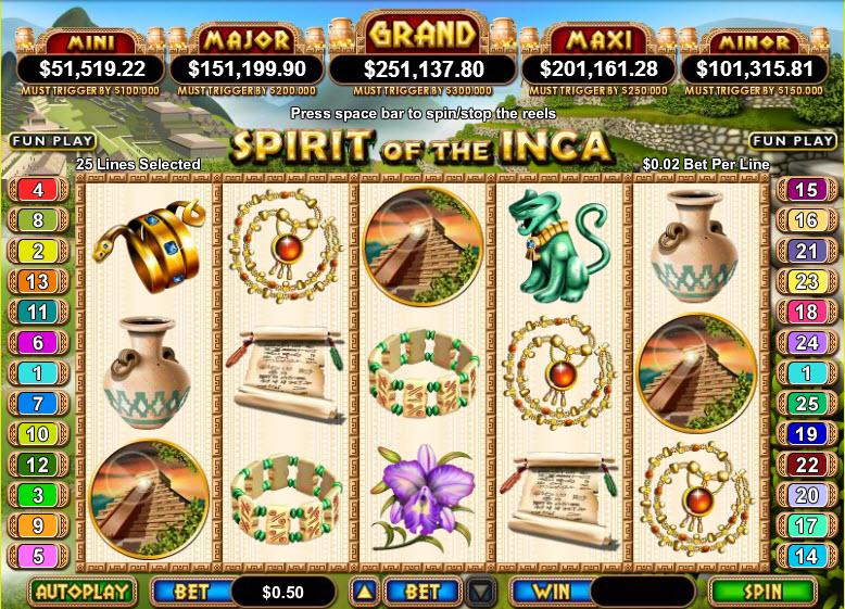 Spirit of the Inca MCPcom RTG