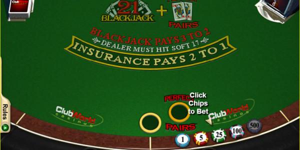 Blackjack + Perfect Pairs MCPcom RTG