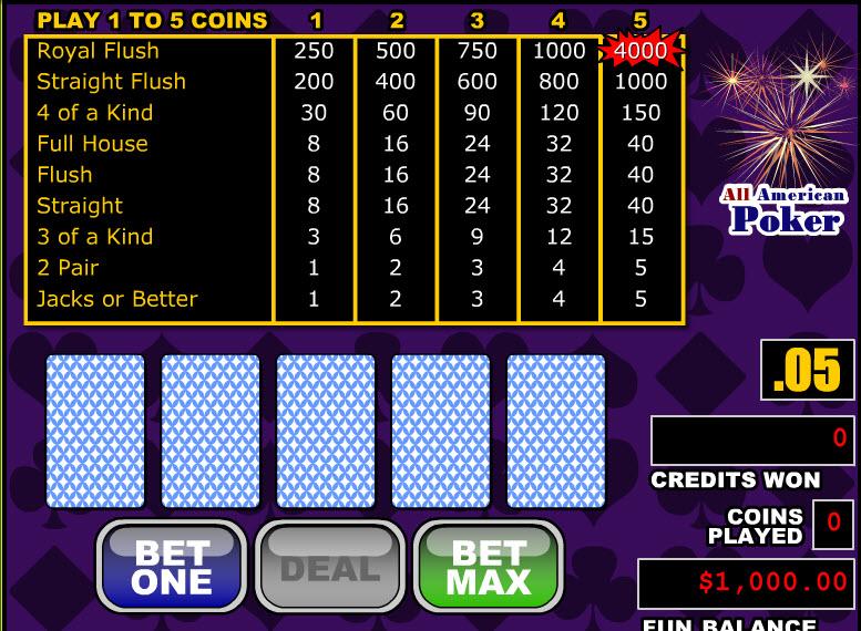 All American Poker MCPcom RTG
