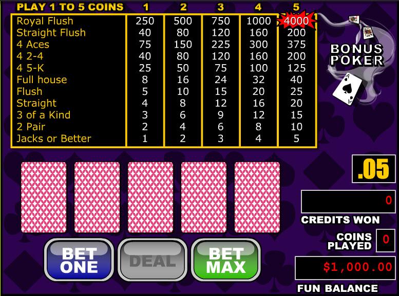Bonus Poker MCPcom RTG