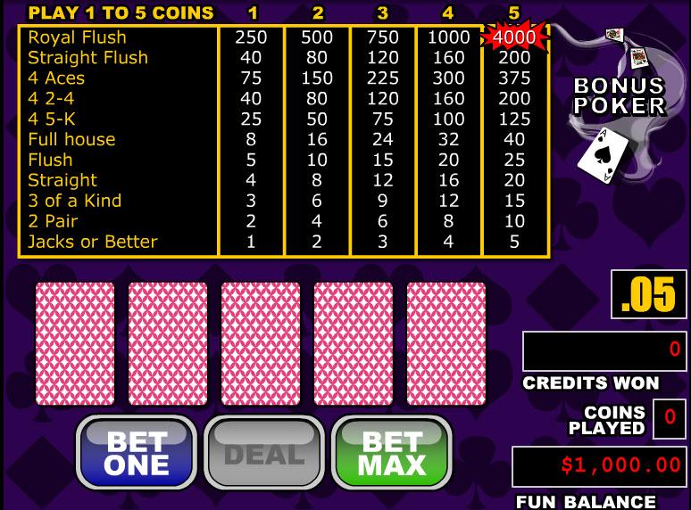 Double Bonus Poker MCPcom RTG