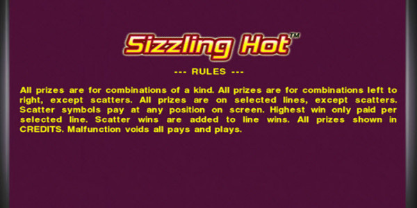 Sizzling Hot MCPcom Novomatic pay2