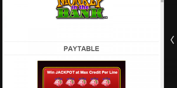 Monkey In The Bank MCPcom Amaya (Chartwell) pay