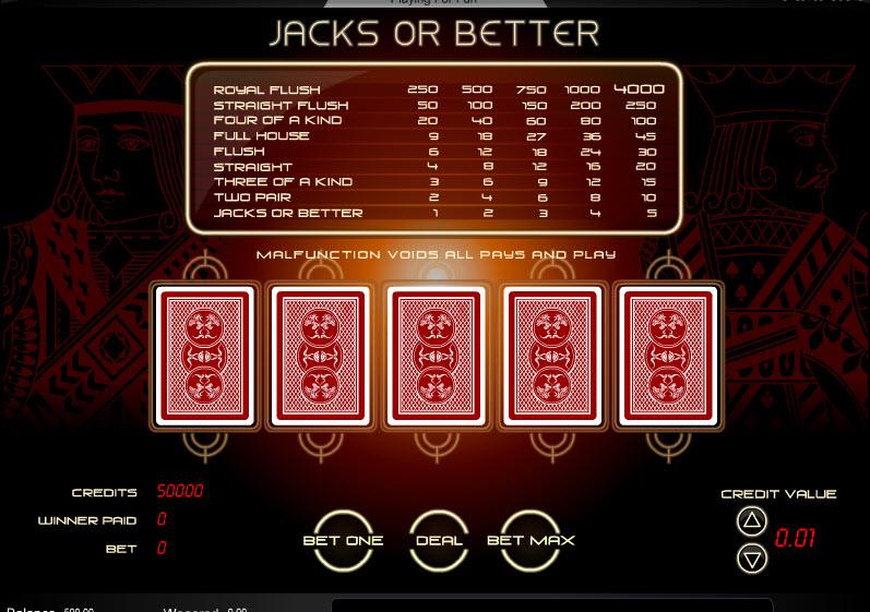 Jacks or Better MCPcom Amaya (Chartwell)