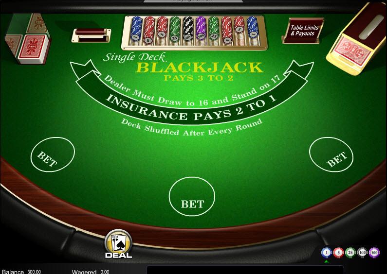 Single Deck Blackjack MCPcom Amaya (Chartwell)