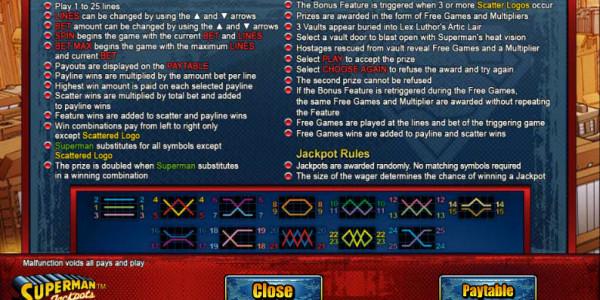 Superman Jackpots MCPcom Cryptologic pay2