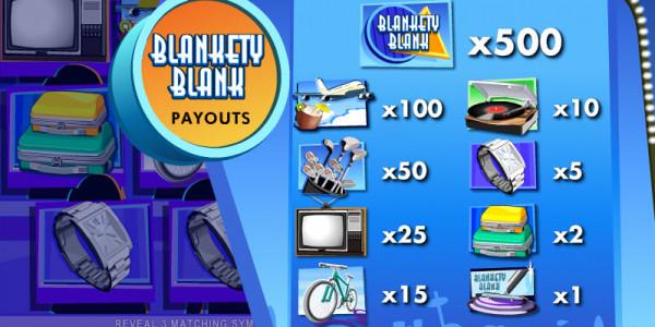 Blankety Blank Scratch MCPcom Electracade pay