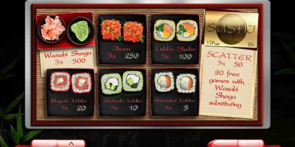 Sushi MCPcom Endorphina pay