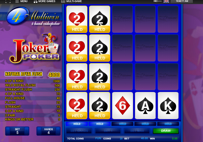 4H Joker Poker MCPcom Espresso Games