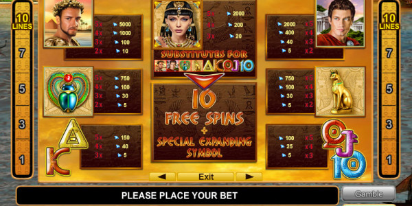Grace of Cleopatra MCPcom Euro Games Technology pay