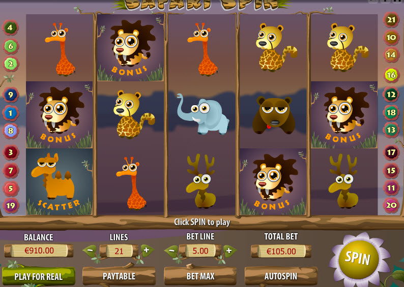 Safari Spin MCPcom Gamescale