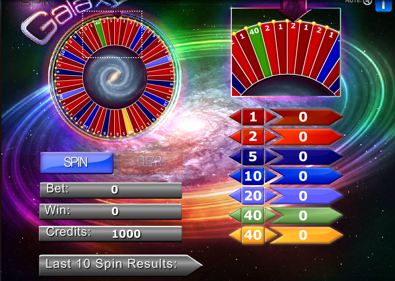Galaxy Spin MCPcom Gaming and Gambling