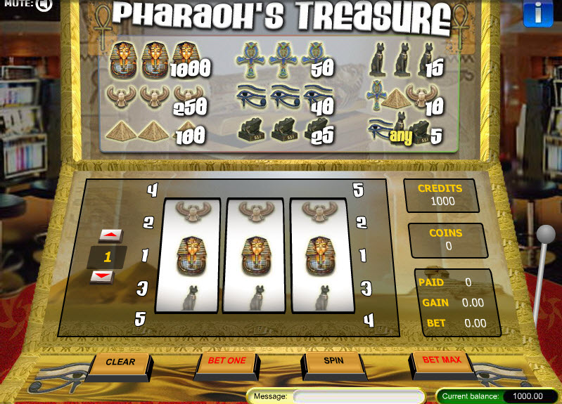 Pharaoh's Treasure MCPcom Gaming and Gambling
