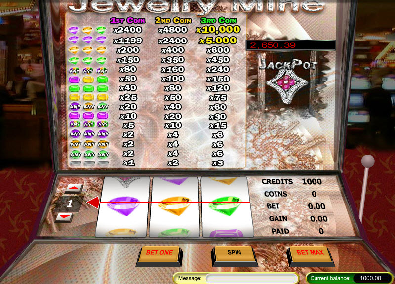 Jewelry Mine MCPcom Gaming and Gambling