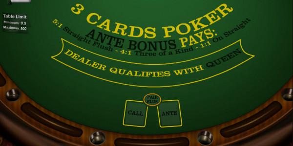 3 Cards Poker MCPcom Gaming and Gambling