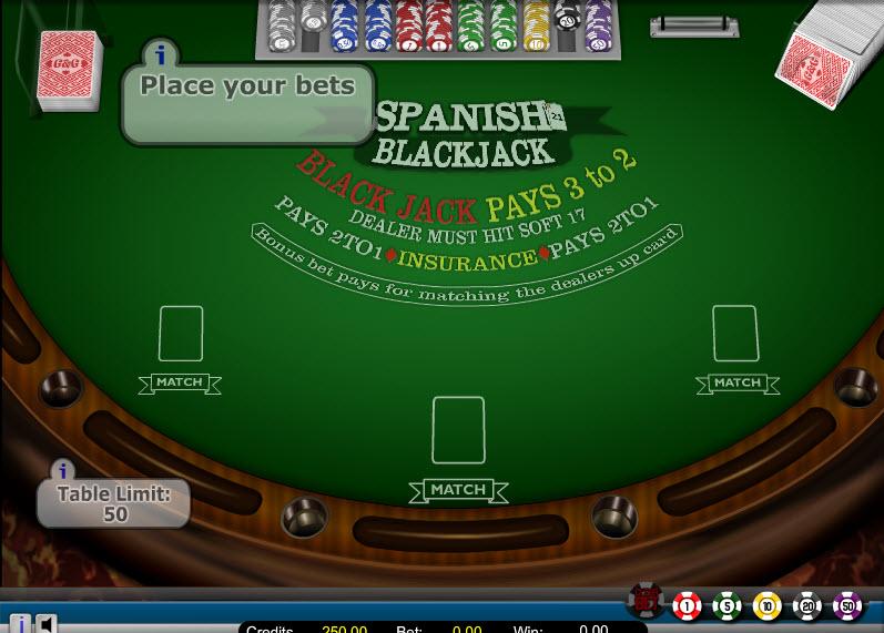 Spanish 21 MCPcom Gaming and Gambling