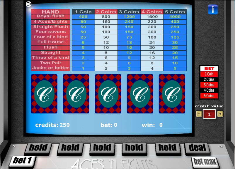 Aces 'n Eights – 1 Hand MCPcom Gaming and Gambling