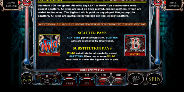 Bloodlines MCPcom Genesis Gaming pay