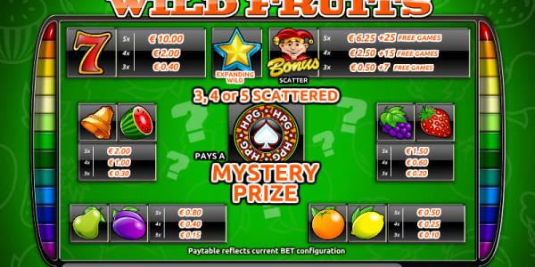 Wild Fruits MCPcom Holland Power Gaming pay