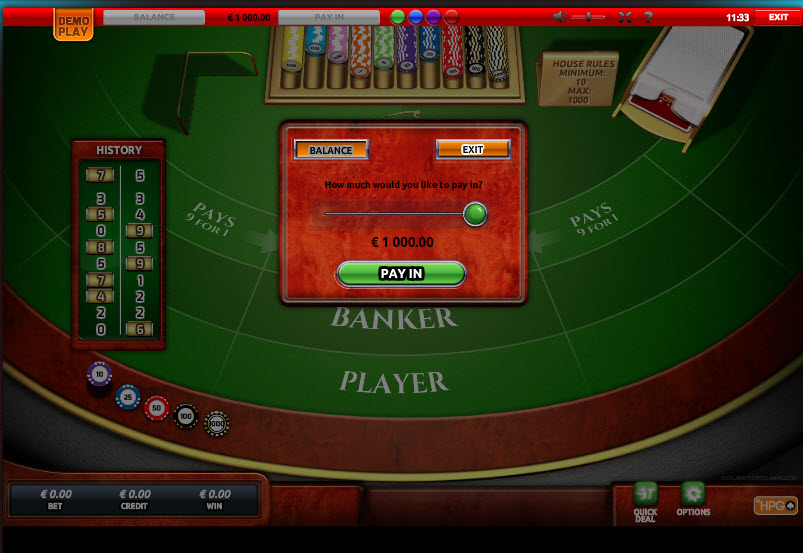Baccarat High MCPcom Holland Power Gaming