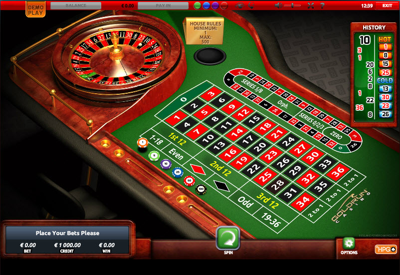 European Roulette Standard MCPcom Holland Power Gaming